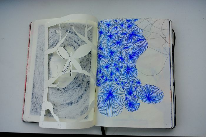 I Draw Various Random Things In My Sketchbook (page 40-59, Several Pages Are Missing)