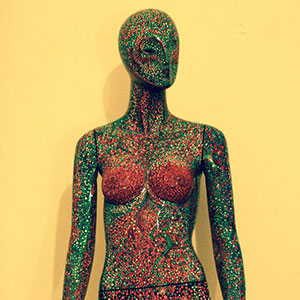 I Lost My Social Life When I Painted Over 100,000 Dots On This Mannequin