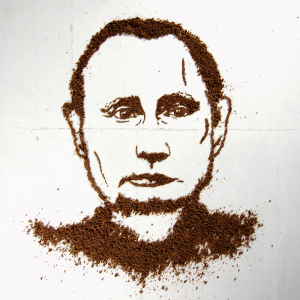 I Made A Putin's Portrait From Bread And Let Chickens Eat It