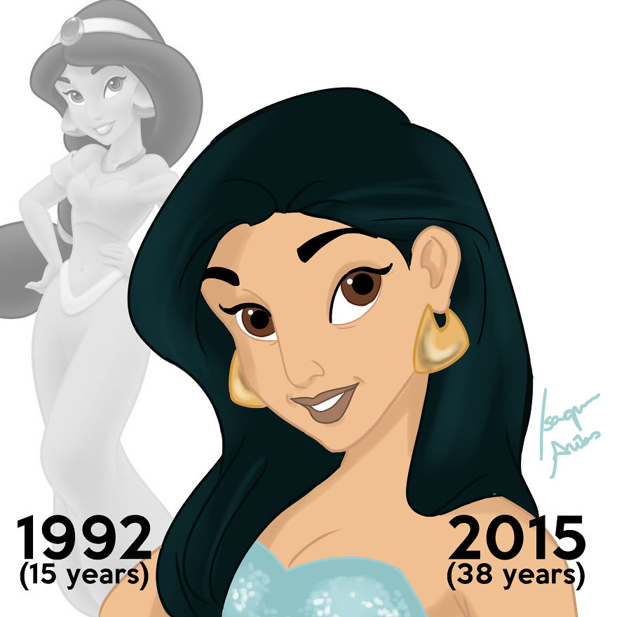 Disney Princess: I Made Disney Princesses Look The Age They'd Be Today
