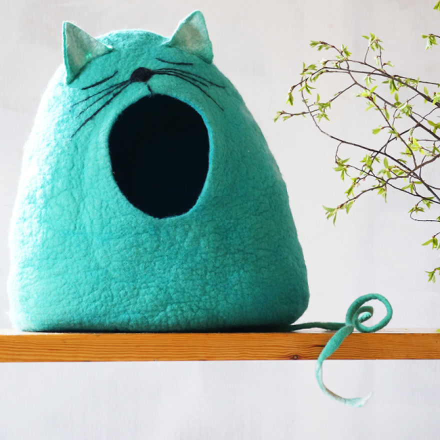 How To Make A Wool Cat Cave