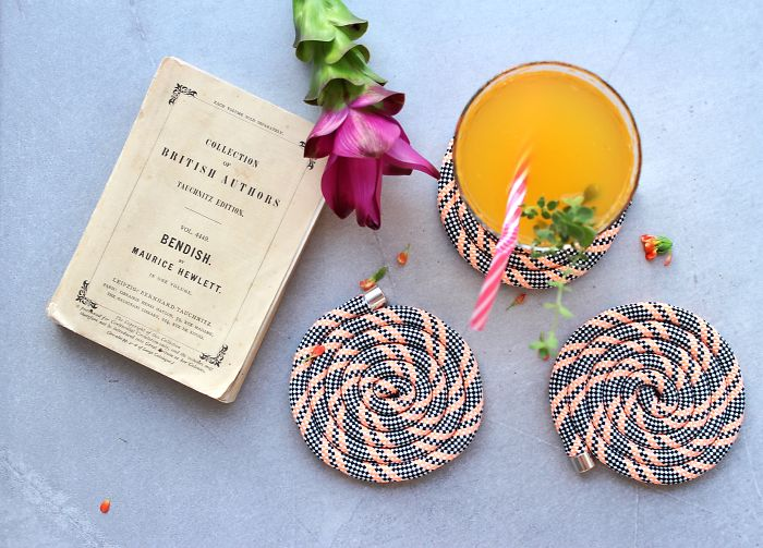 I Make Funky Coasters And Photograph Them With Books To Inspire People To Read More