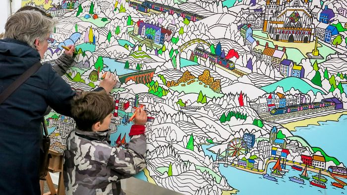 I Make Giant Colouring Art For Thousands Of Adults To Colour Together