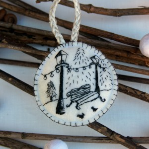 I Make Hand-Embroidered Ornaments That Look Like Sketches