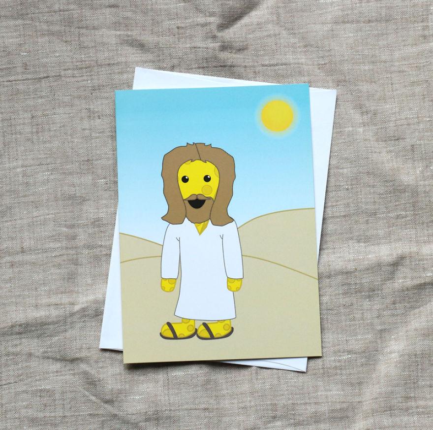 Cheesus Christ! Christmas Card
