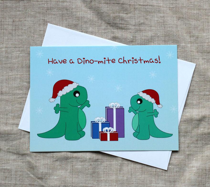 Dino-mite Christmas Card