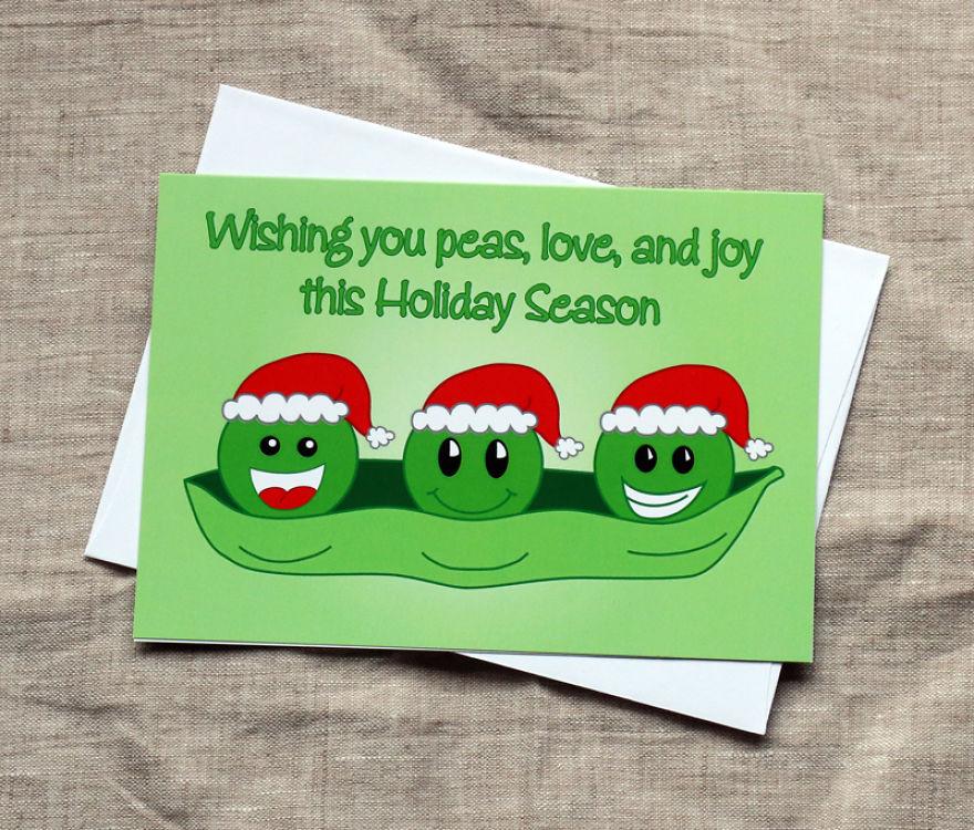Peas, Love & Joy Christmas Card