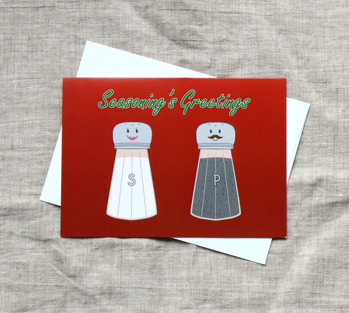 I Make Punny Christmas Greeting Cards