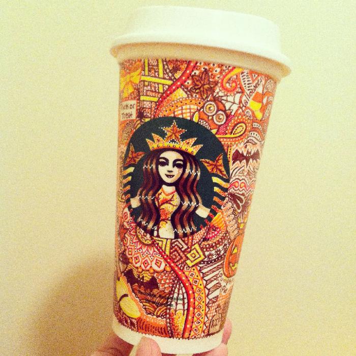 I Turn Starbucks Cups Into Art | Bored Panda