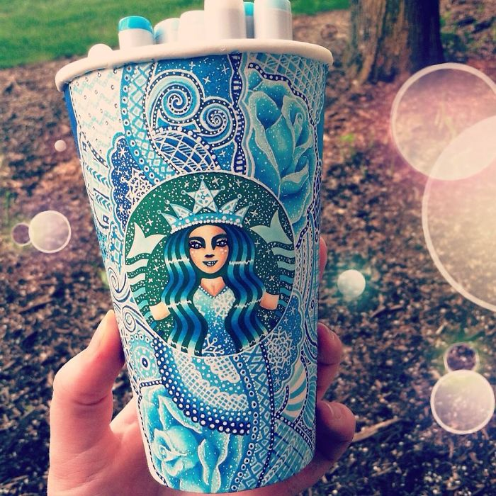I Turn Starbucks Cups Into Art