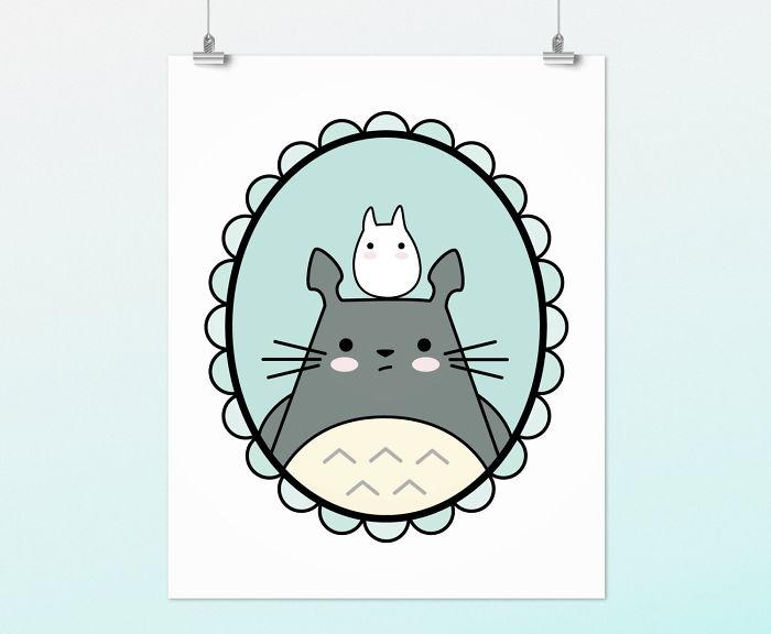 Wall Art Printable Totoro Portrait