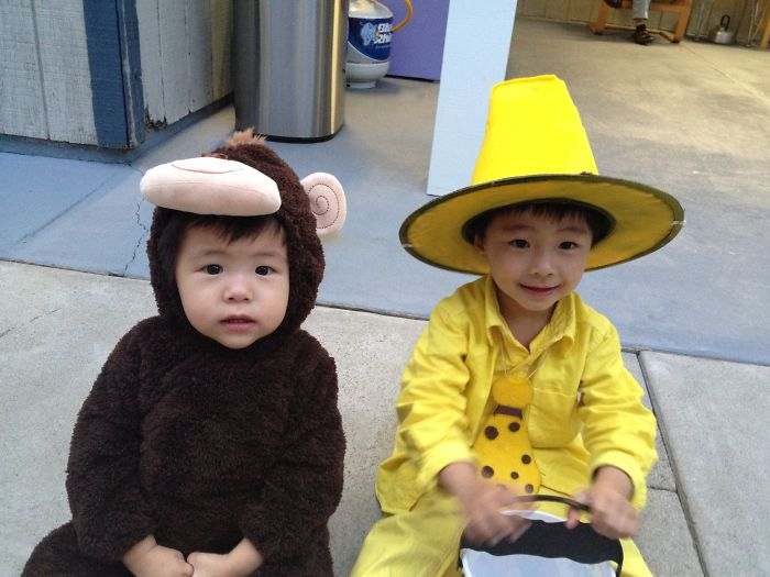 Baby Curious George And Man In Yellow Hat