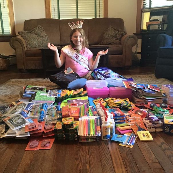 Mackenzie Raised $500 By Yard Sale (twice) To Fill Backpacks Of Supplies For Kids In Need