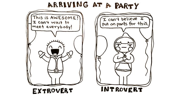 Image result for comic introvert