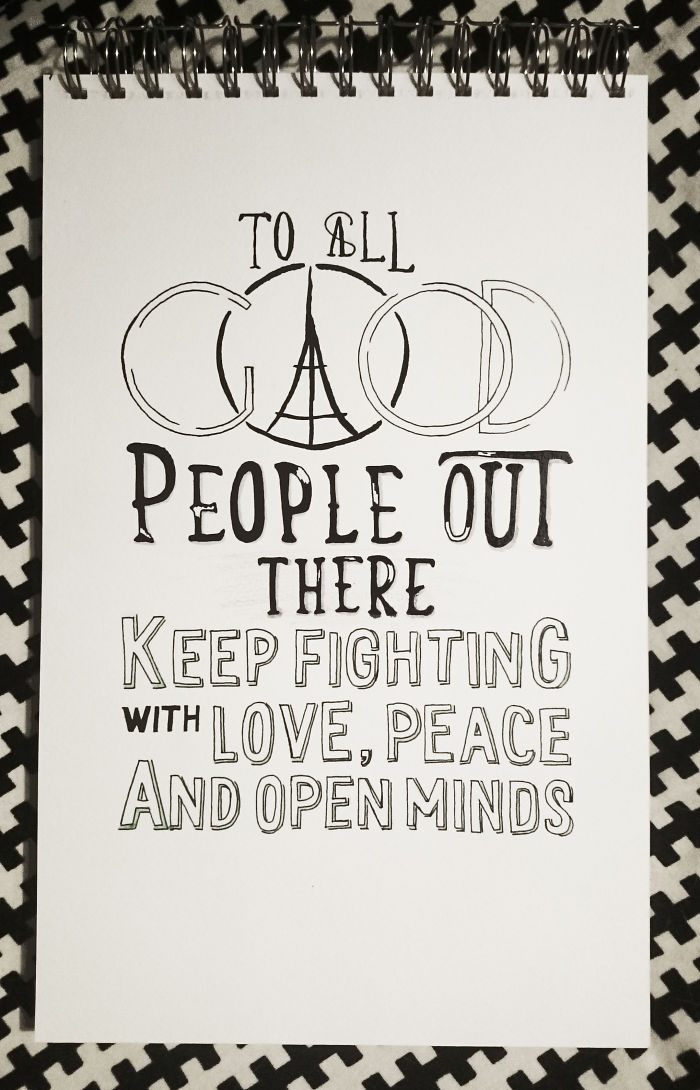 Keep Fighting With Love, Peace And Open Minds