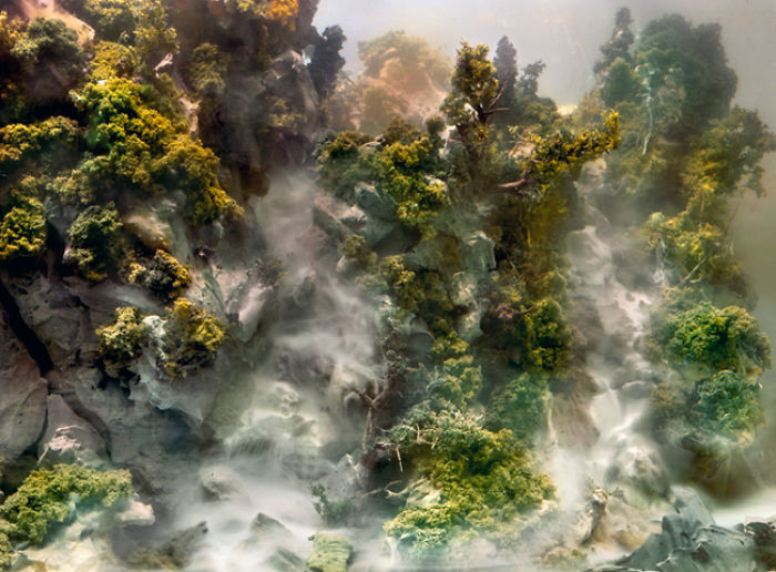 Artist Creates Beautiful Landscapes And Abstract Images By Filling Up A Water Tank