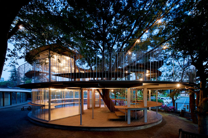 Japanese Kindergarten Built Around A Tree With A Legendary Story