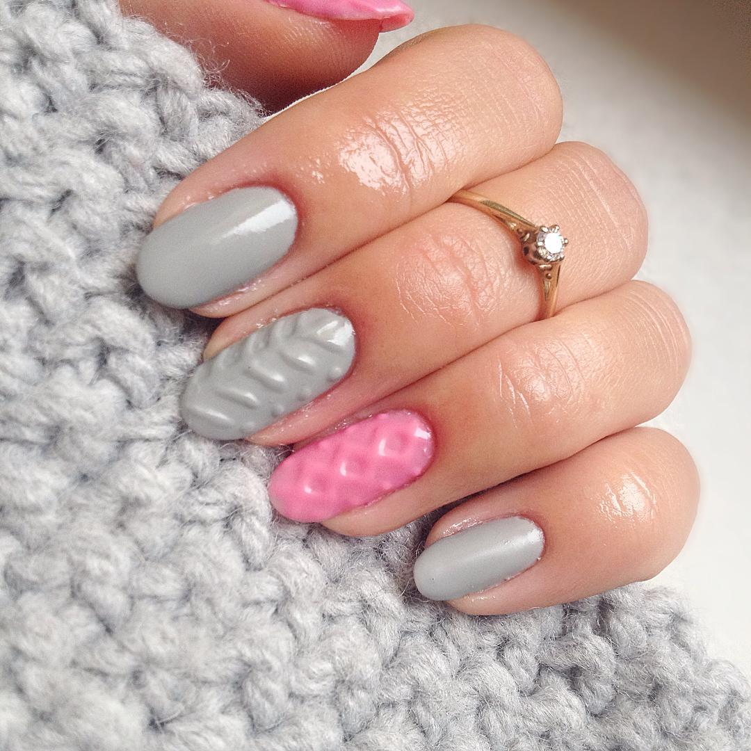 Cozy Knit Nail Trend Matches Perfectly With Your Winter Sweater ...
