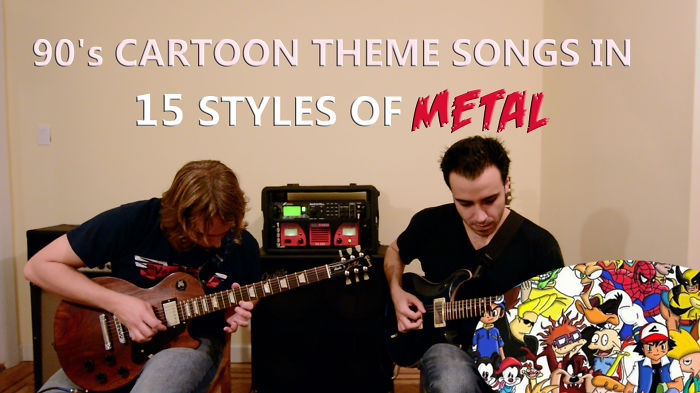 Listen To Mashup Of 90's Cartoon Theme Songs In 15 Styles Of Heavy Metal