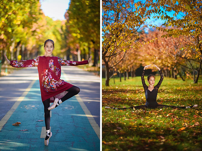 I Said 'Happy B-Day' To A Little Ballerina With Autumn Photoshoot