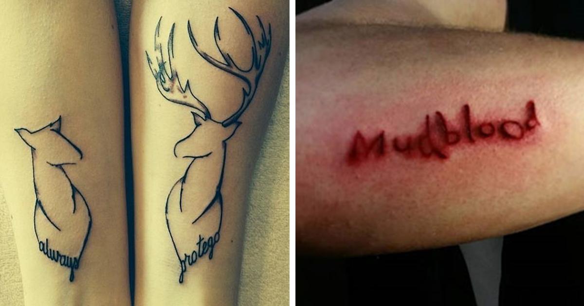 30 Harry Potter Tattoos I Found Truly Magical Bored Panda
