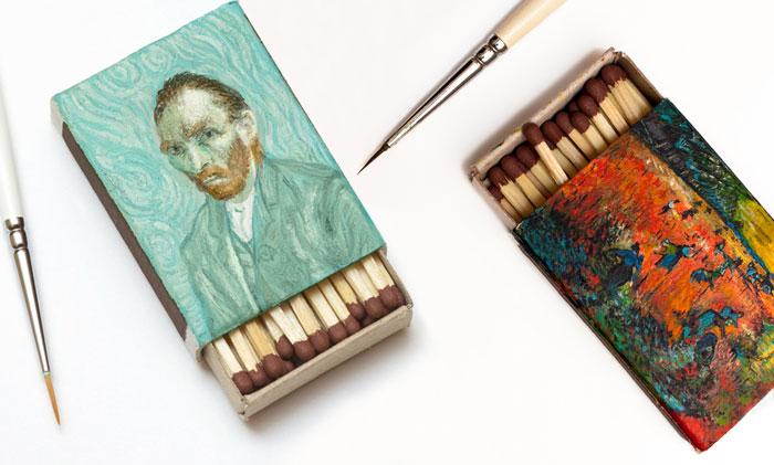 I Recreate Van Gogh Paintings On Matchboxes