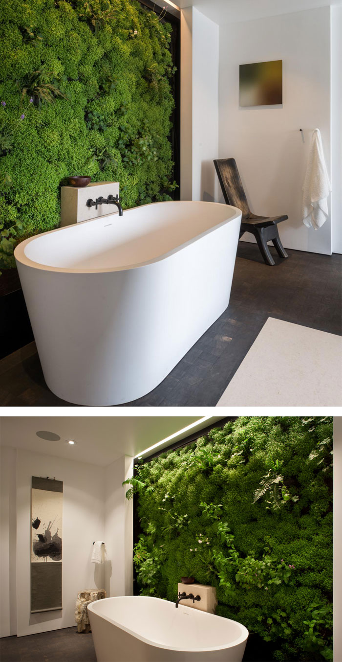 Moss Wall In The Bathroom