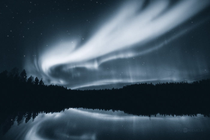 My Photo Series Of Northern Lights In Monochrome