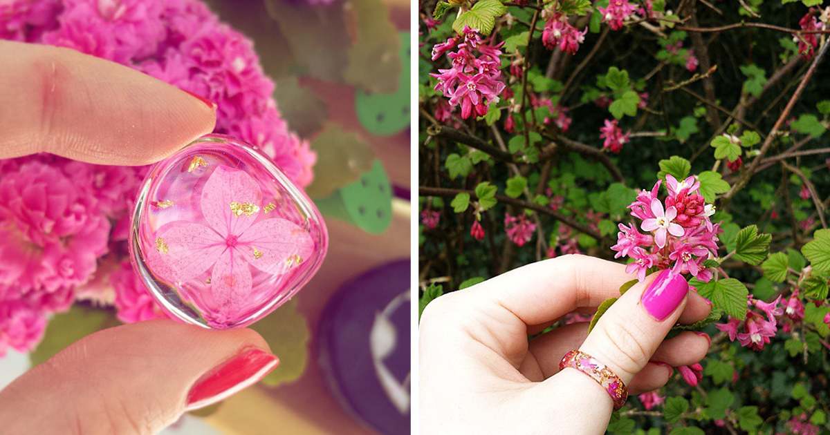 I Preserve The Beauty Of Nature In Eco-Resin Jewelry