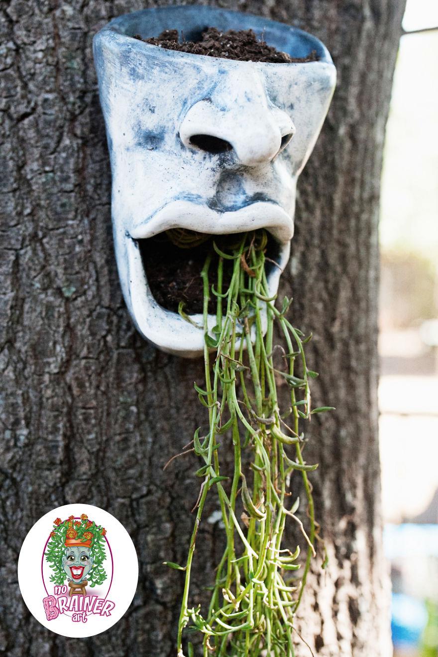 No Brainer Art Face Planter