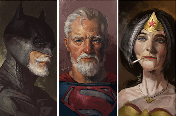 picturi supereroi batrani