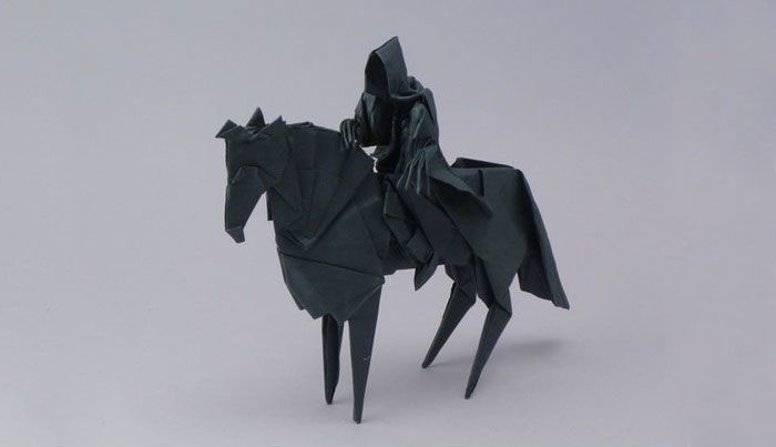 Origami Folding A Paper Crane