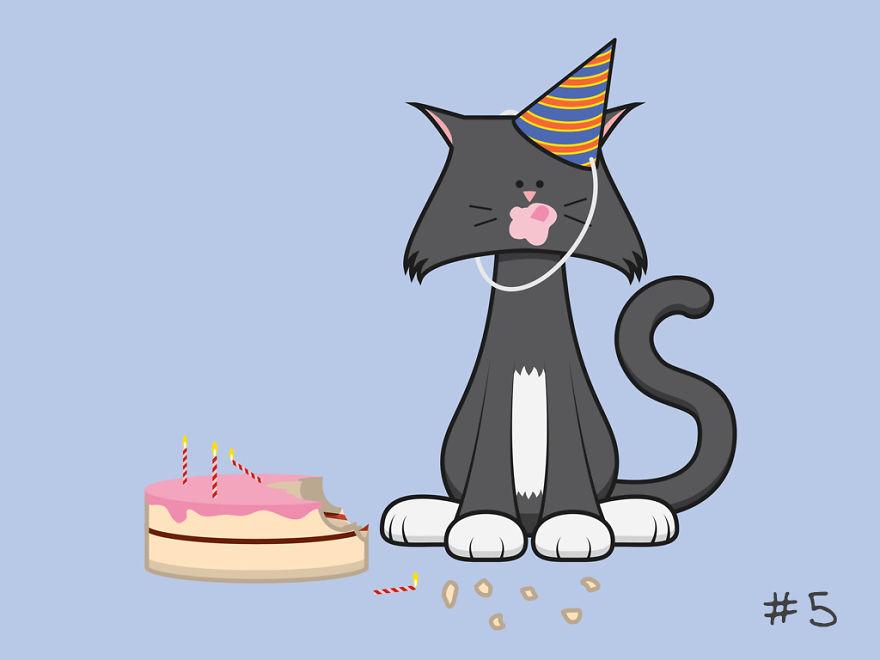 картинки кошачье день рождение преобрести щенка, появился