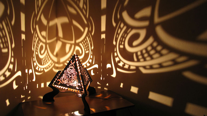 Shadow Lamps That We Made Using Our Diy Laser Cutter | Bored Panda