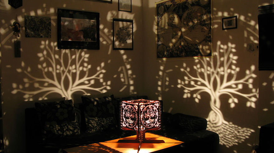 Shadow Lamps That We Made Using Our Diy Laser Cutter
