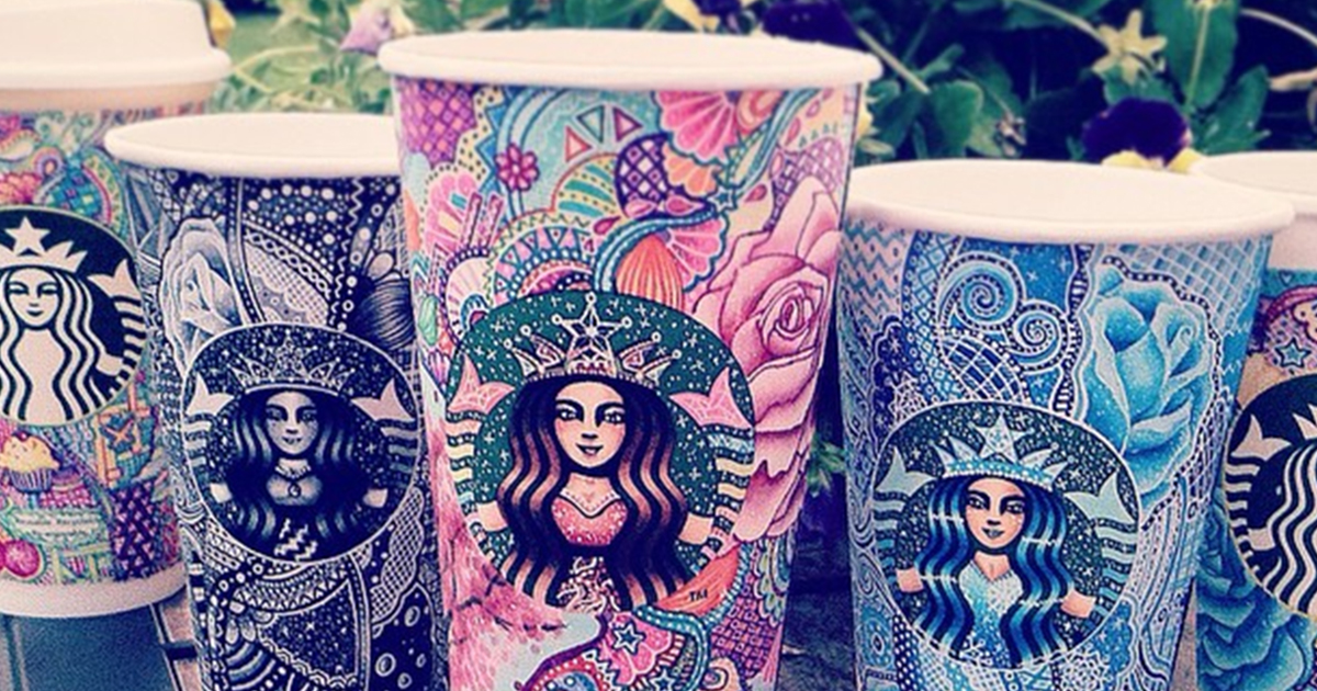 I Turn Starbucks Cups Into Art