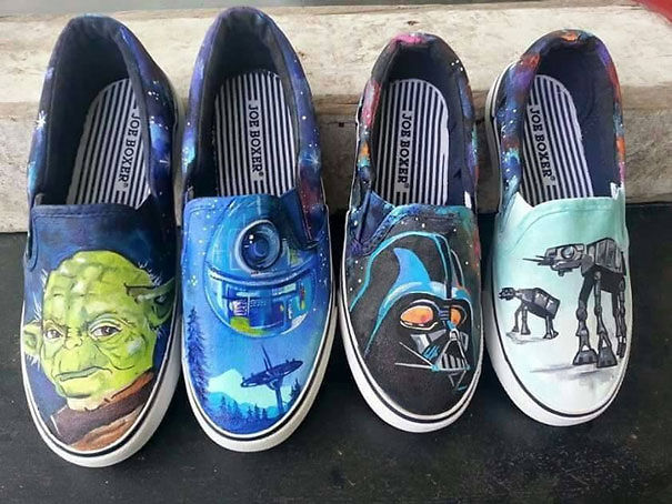 Custom Hand Painted Star Wars Shoes