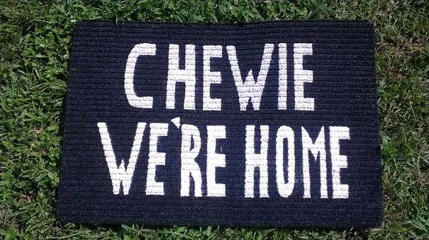 Chewie Biz Ev Welcome Mat sensin