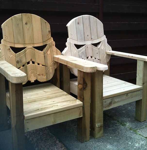 Stormtrooper Wooden Chairs