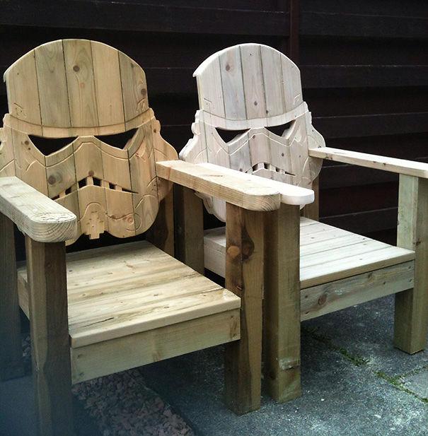 Stormtrooper Ahşap Sandalye