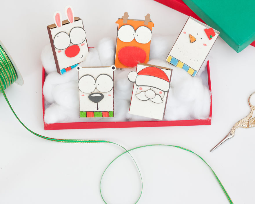 Special DIY Christmas Card Set for Matchbox Card making
