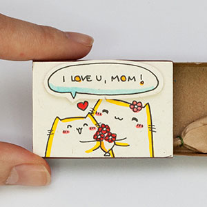 Surprise Messages Hidden In Little Matchboxes