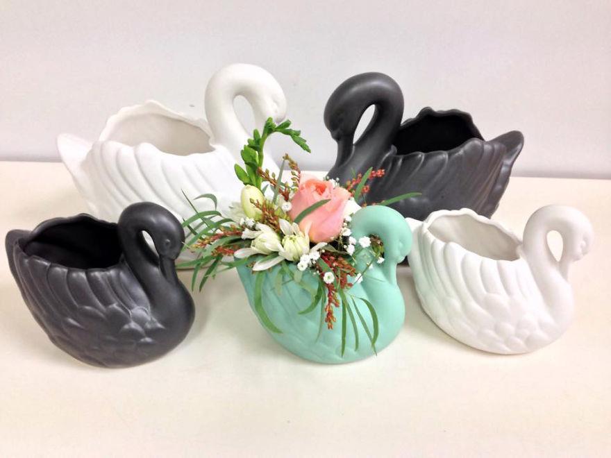Swan Planter :)