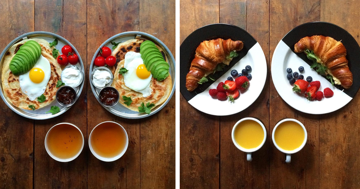 Loving Man Makes Symmetrical Breakfasts For His Boyfriend Every Morning