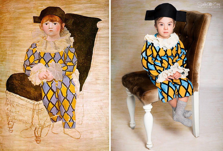 Children With Down Syndrome Recreate Famous Paintings To ...