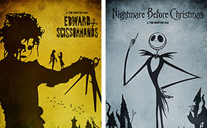I Designed Minimalistic Posters For My Favorite Movies By Tim Burton