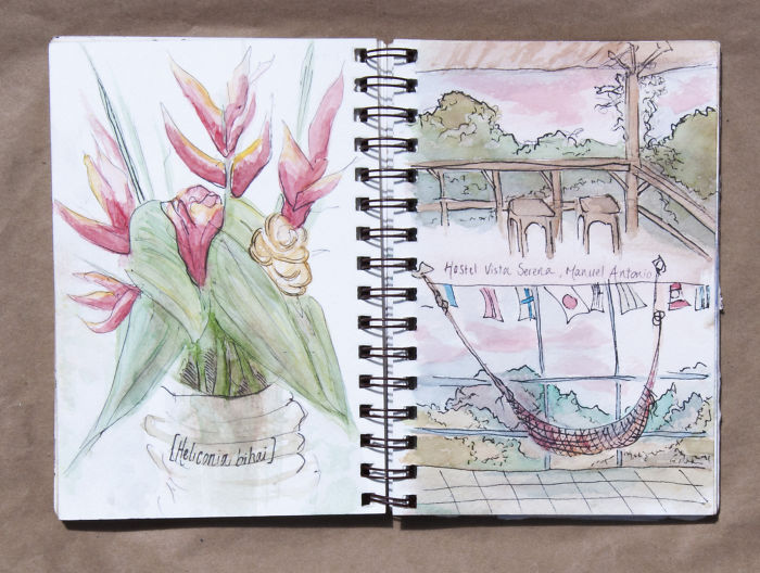 Travel Sketchbook Of My Trip To Central America