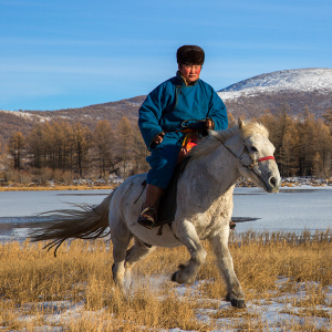 Travelling Through The Mongolian Wilderness Away From Technology And City Life