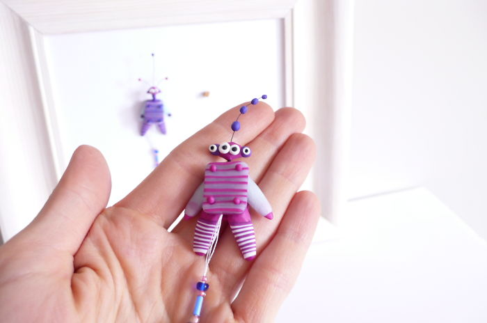 What Happens When A Jumping Jack Toy Bumps Into A Polymer Clay Artist