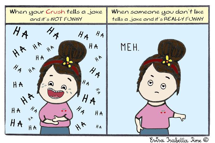 When Your Crush Tells A Joke